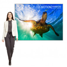 """LED Animated Light Box Fabric Frame  61"""" x 42"""" includes Graphic and Animation"""