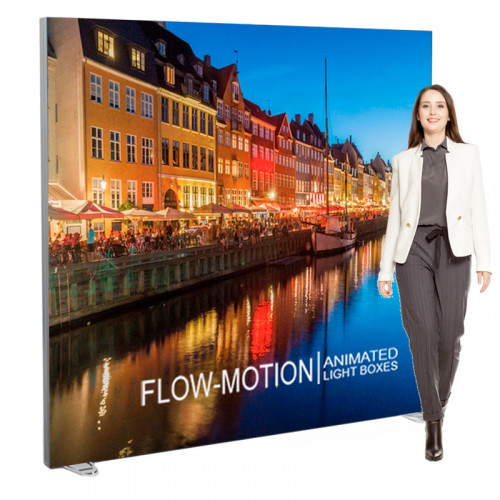 LED Dynamic Lightbox Display 81x82 Freestanding, Includes Animation