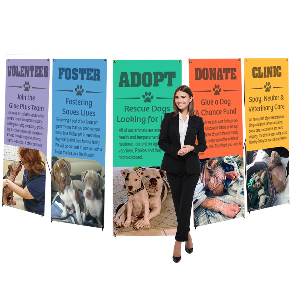 One Choice X-Banner Stands, 5 Stands and 5 Custom Printed Banners