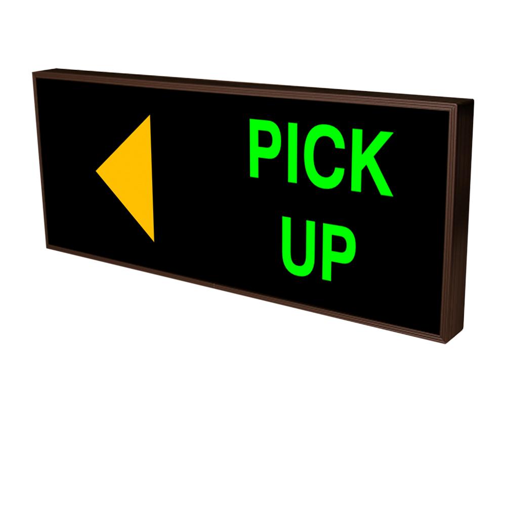 PICK-UP with Left Arrow Backlit LED Sign 120 -277 VAC, 14x34