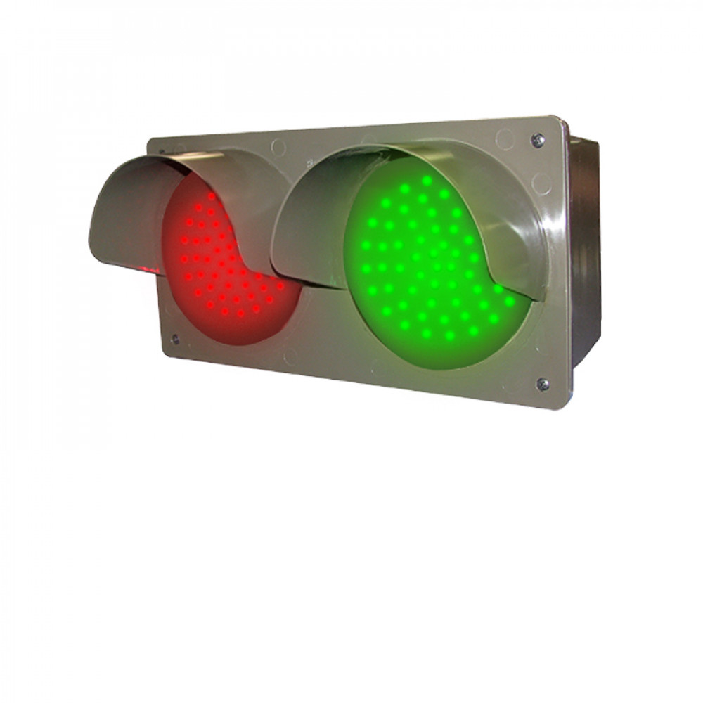 Traffic Light with Hooded Red & Green Signals 120-277 VAC, 7x14