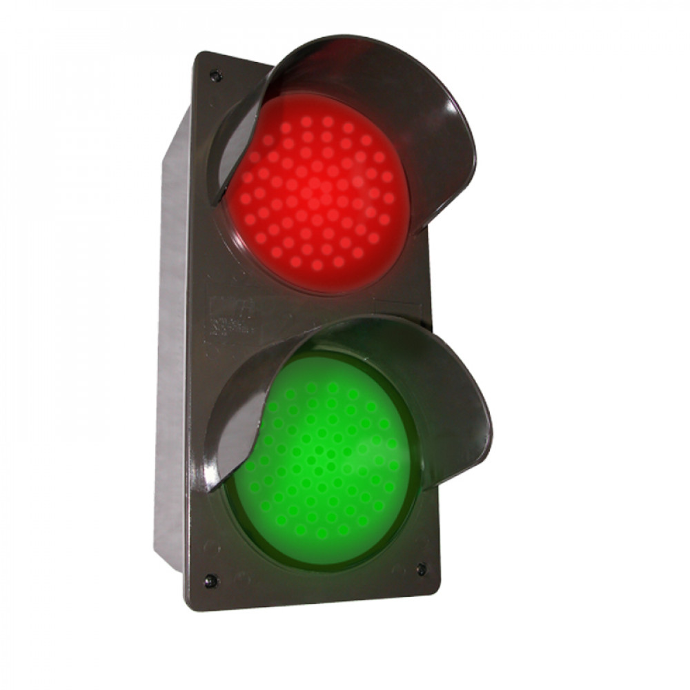 """LED Traffic Light, Vertical  Red and Green LED 7"""" x 14"""""""