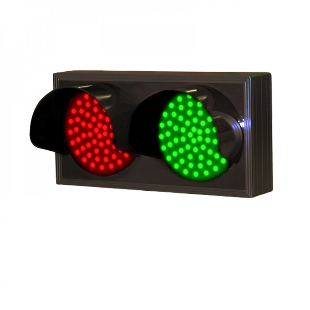 Traffic Signal with Hooded Red & Green Lights 120-277 VAC, 7x14