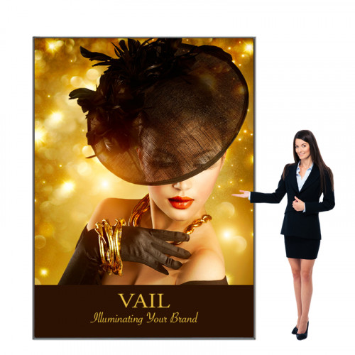 Vail SEG Fabric Light Box Display 6ft x 8ft, 120DB