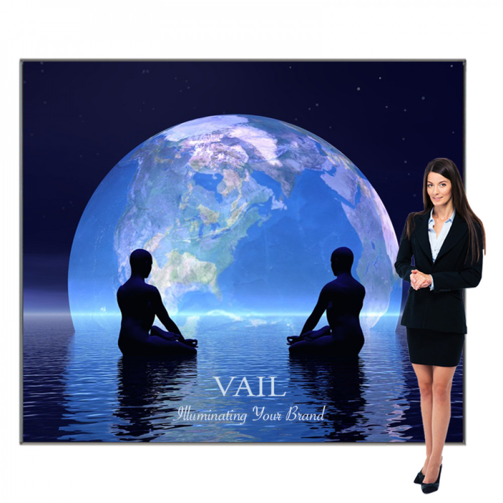 Vail SEG Fabric Lightbox Display, Includes Graphic 8ft x 7ft, 120DB