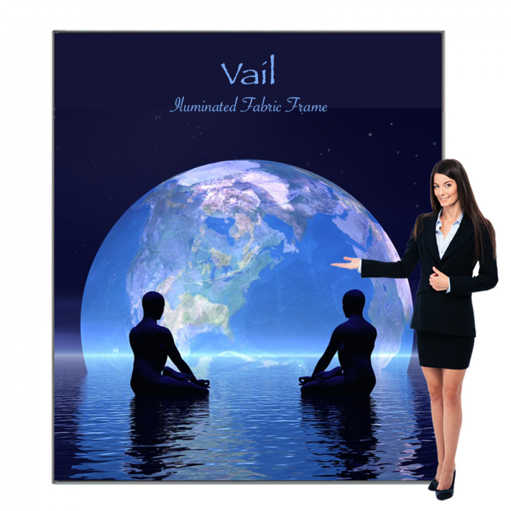 Vail SEG Fabric Light Box Sign, Includes Graphic 7ft x 8ft, 120DB