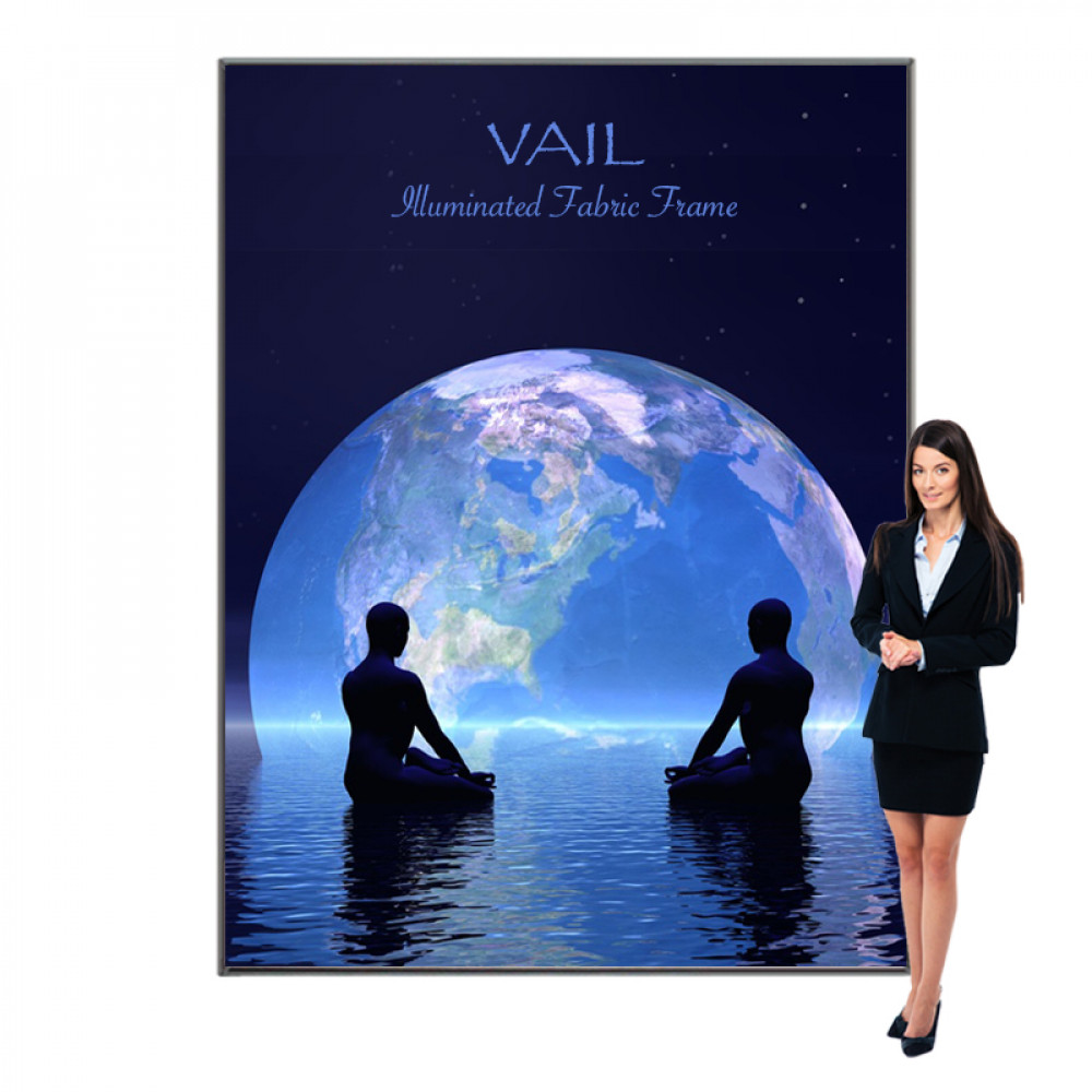 Vail SEG Fabric Light Box Display 7ft x 9ft, 120DB