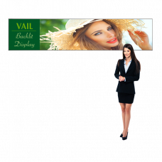 SEG Portable Light Box Sign with Fabric Graphic, 9ft x 2ft Vail 120DB