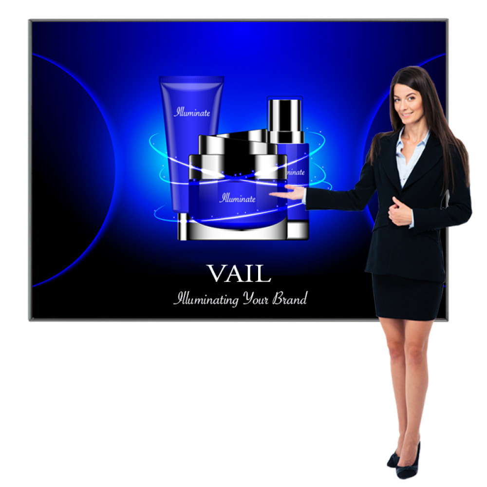 SEG Extrusion Fabric Lightbox with Backlit Graphics 7ft x 6ft, Vail 120DB