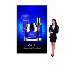 Vail SEG Light Box Sign with Backlit Fabric Graphics 5ft x 8ft, 120DB