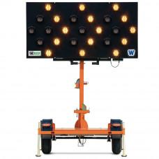 Arrow Traffic Sign Trailer with Swivel Head, 25 Flashing Lights