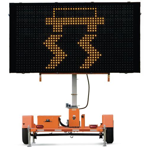 Full Matrix Sign Solar Traffic Message Board Trailer