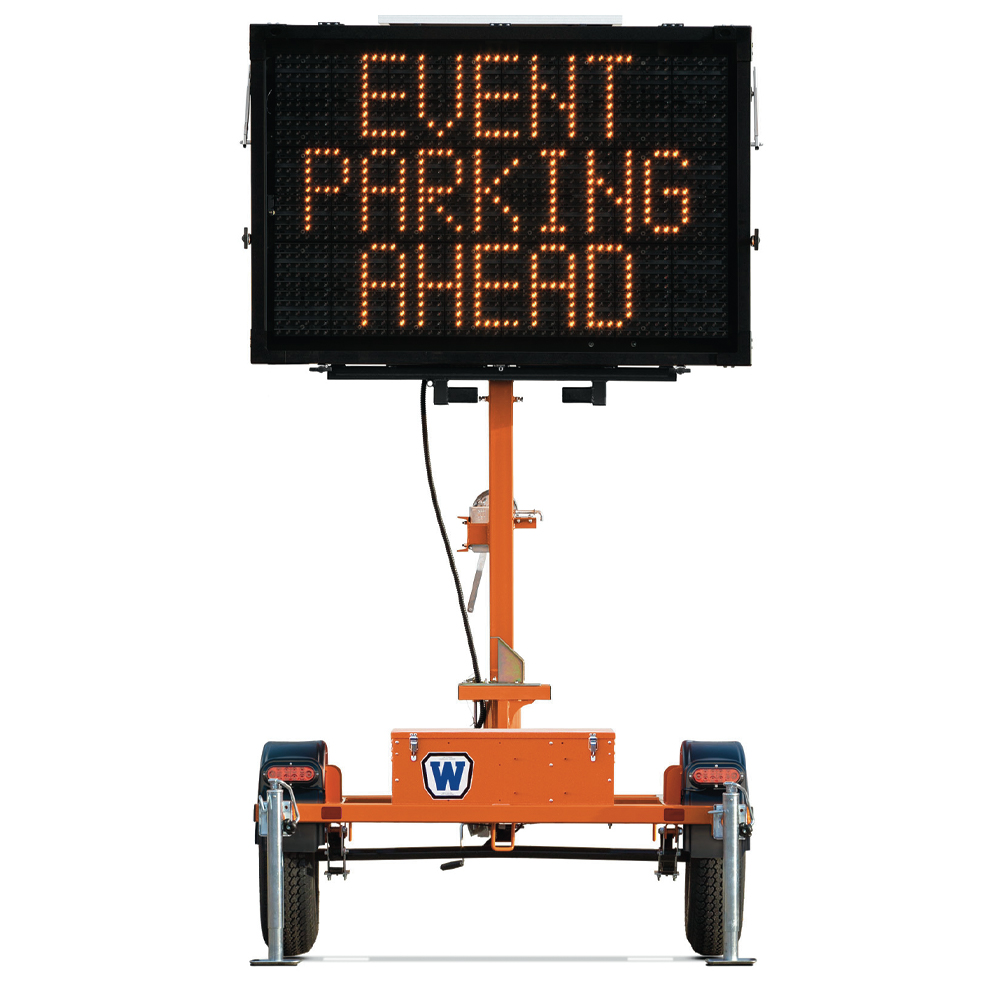 Metro Matrix Message Sign Board Medium Display with Trailer
