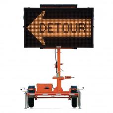 Mini Matrix Message Board Solar Traffic Control Trailer
