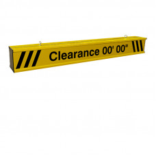 Height Clearance Bar 17ft wide Heavy Duty Aluminum with Reflective Lettering