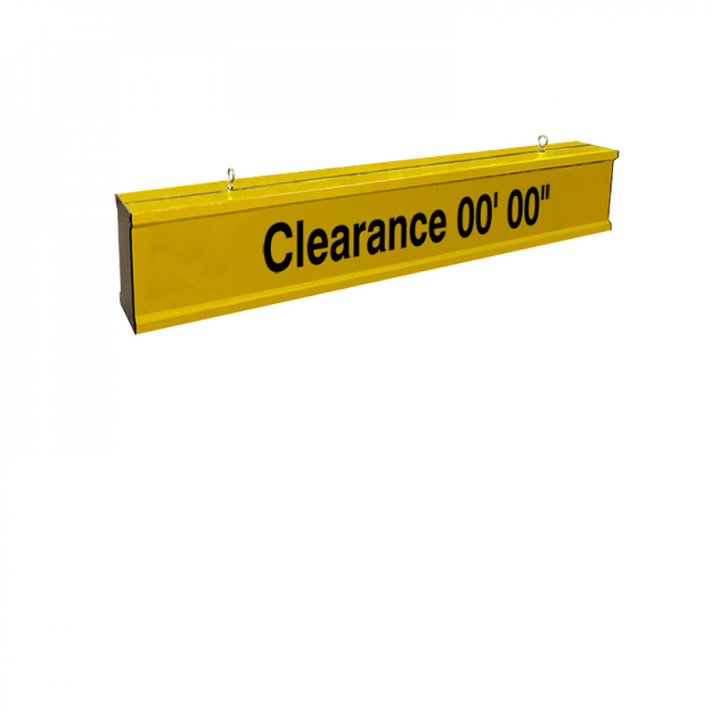 Height Clearance Bar 3ft wide Heavy Duty Aluminum with Reflective Lettering