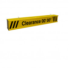 Height Clearance Bar 5ft wide Heavy Duty Aluminum with Reflective Lettering