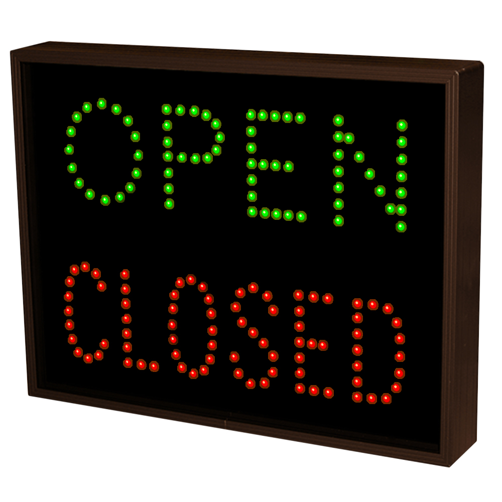 Outdoor LED Open / Closed Sign for Traffic Control Sign 14x18
