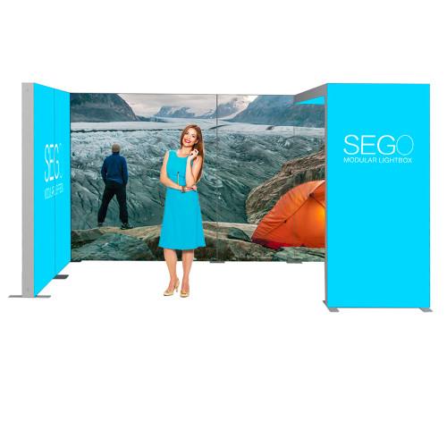 Sego Kit G 15ft x 10ft Backlit Exhibit Booth