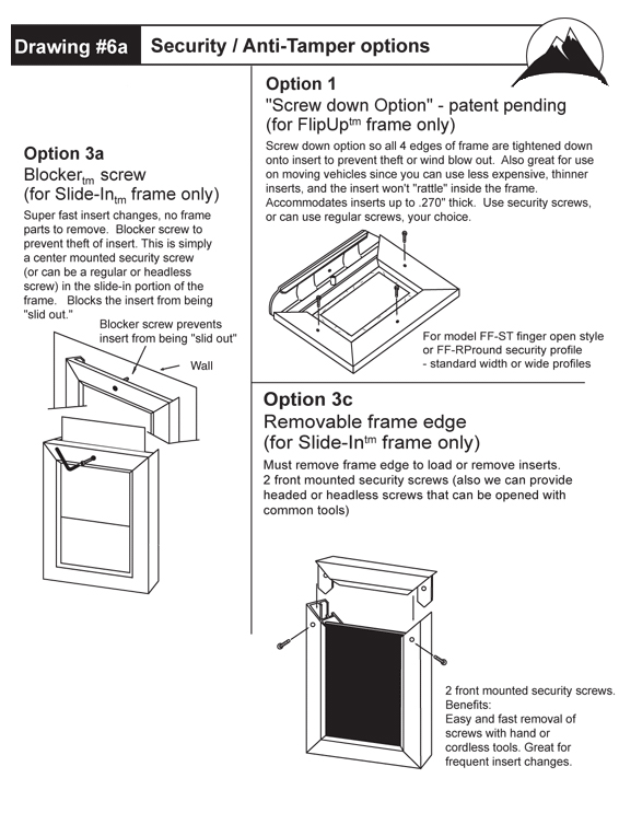 Flip Up Frame Measuring Methods