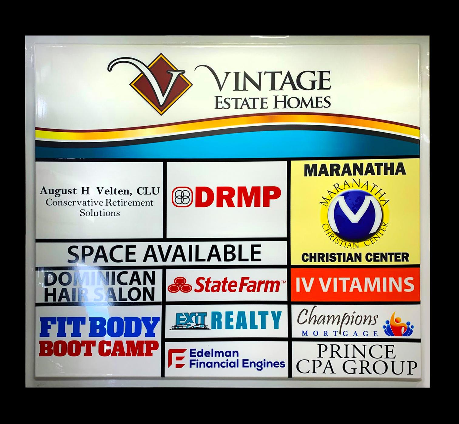 Multi business sign face