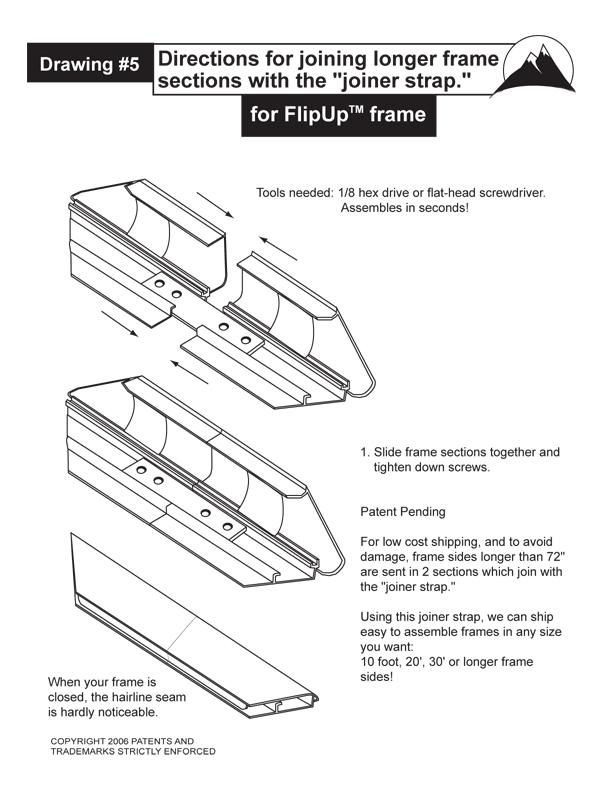 Flip Up Frame Joiner Instuctions