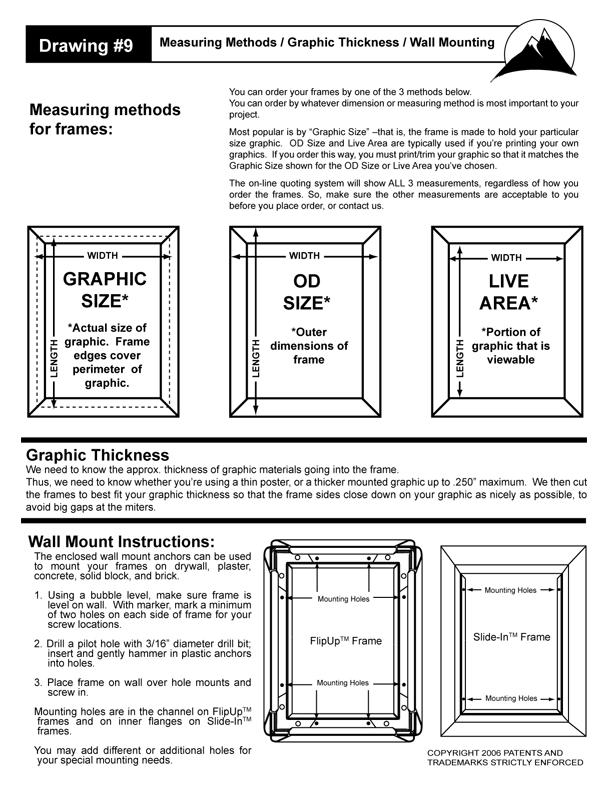 Flip Up Frame Measuring Methods