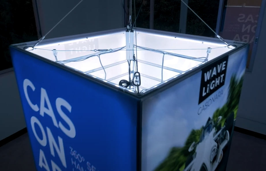 Backlit Fabric Hanging Displays