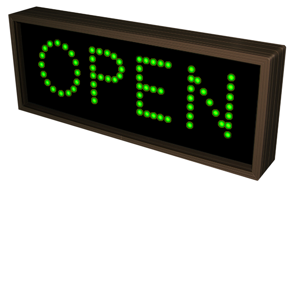 Outdoor OPEN Sign Directional Systems 120-277 VAC, 7x18