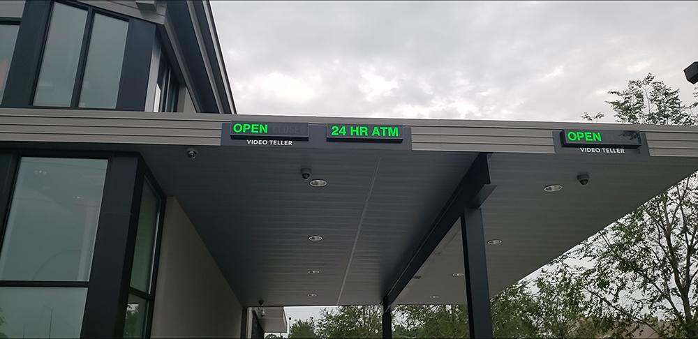 Drive-thru lane ATM signs