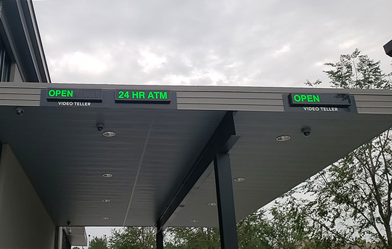 Outdoor LED Open and ATM Signs