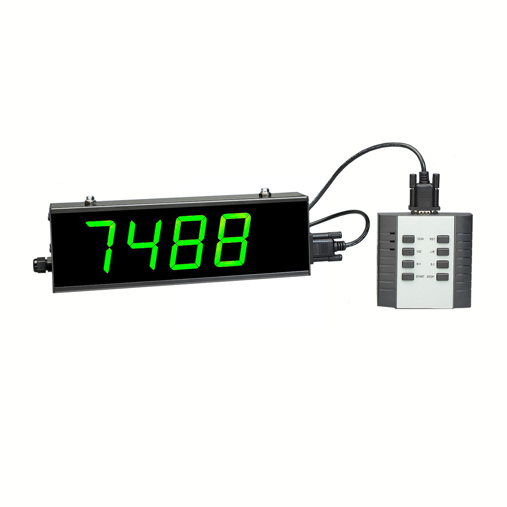 Digital Counter Display Increments by One, 2 Inch 4 Digit 12x4