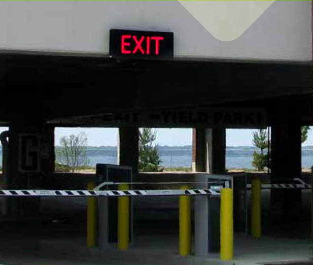 LED traffic lights Enter and Exit Signs