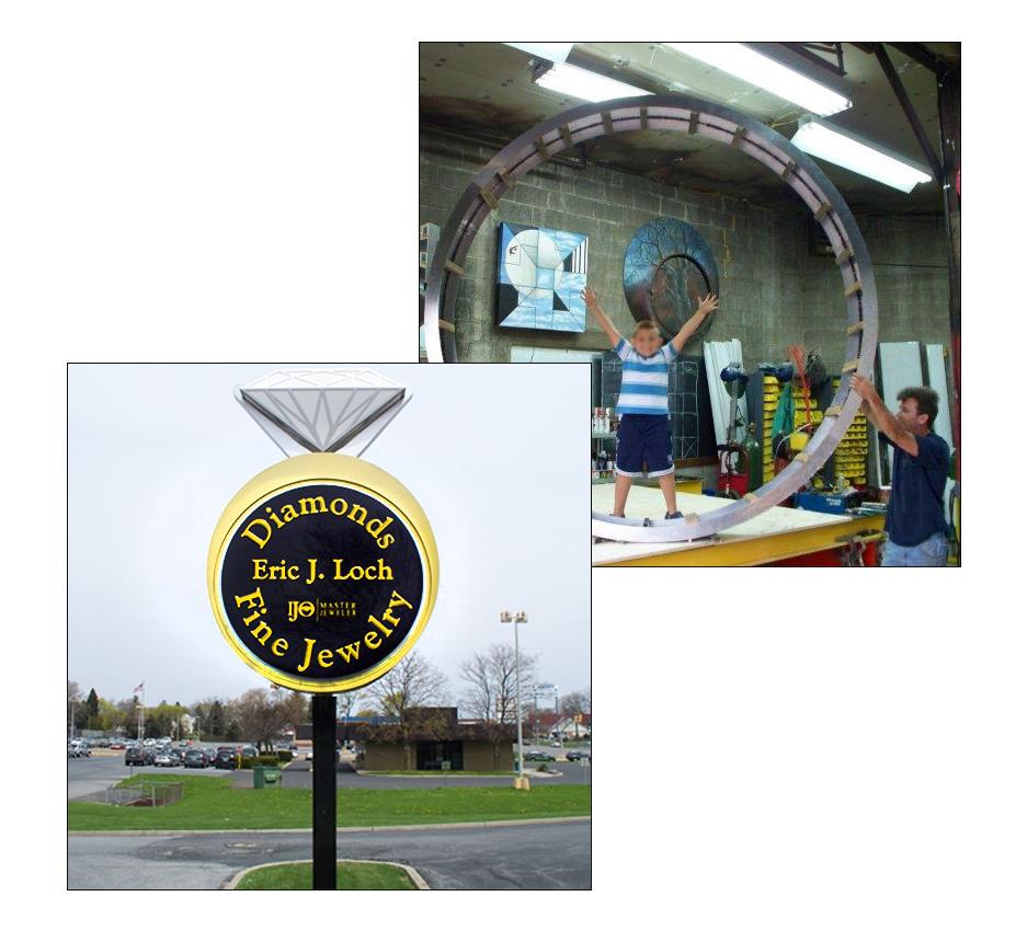 Outdoor Round  Lightbox Sign