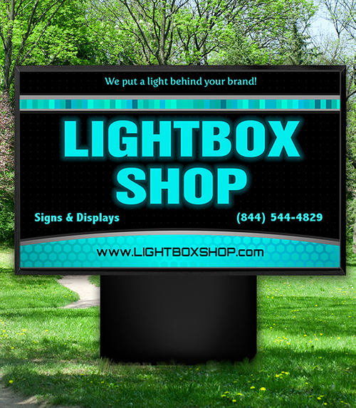 Lightbox Shop Outdoor Sign
