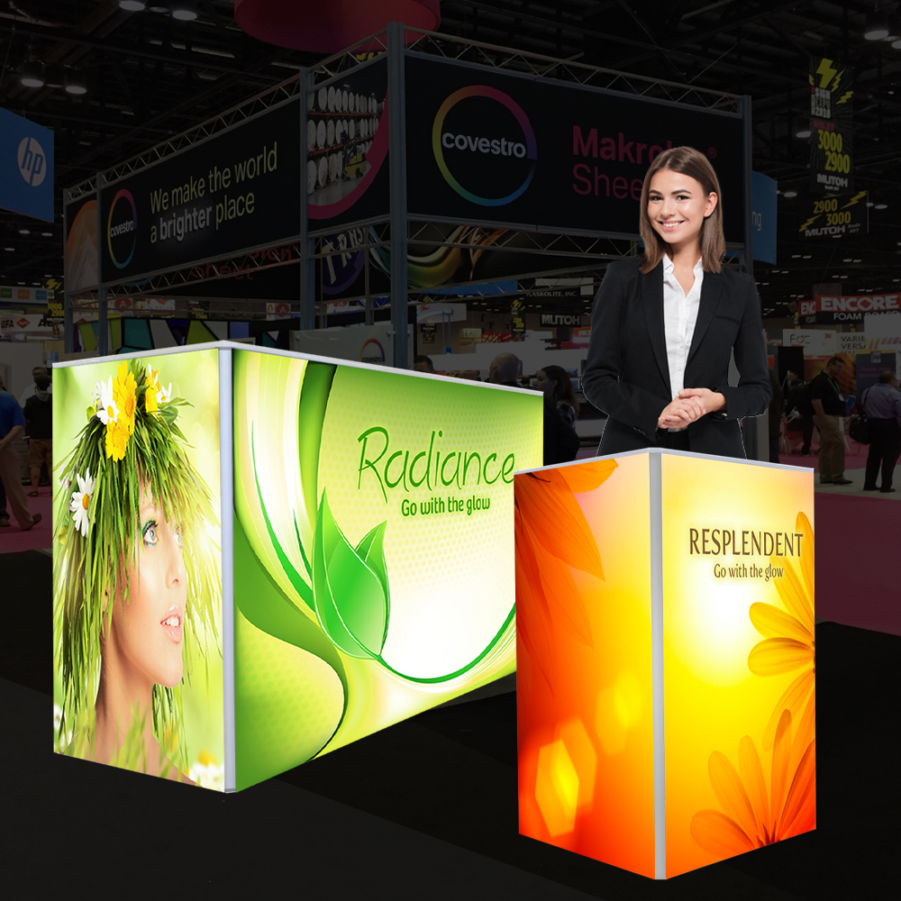 Backlit Counter Display for Trade Show Events