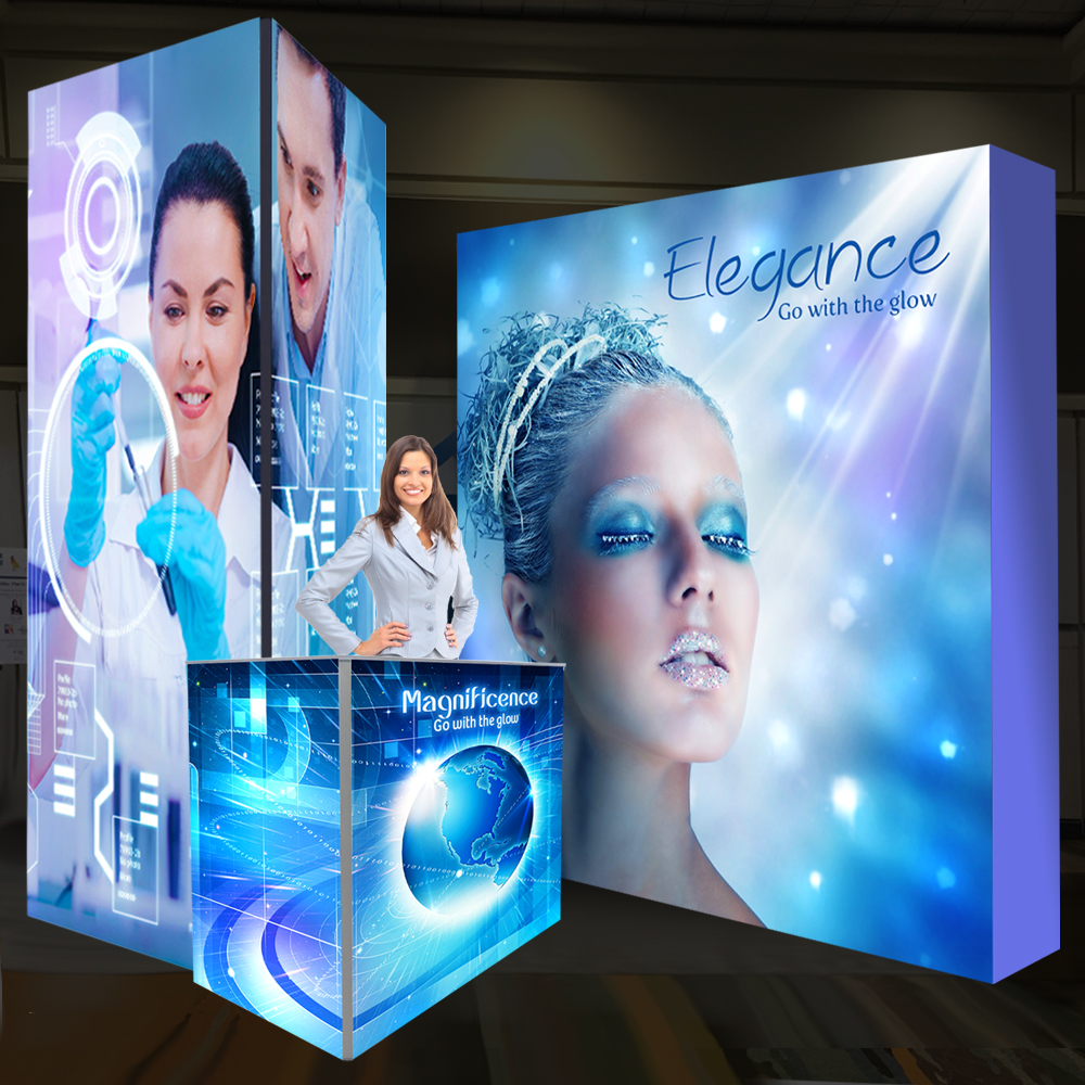 Backlit SEG Fabric Displays