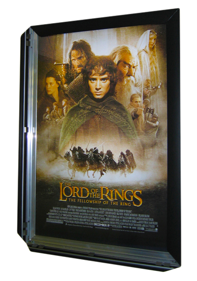Snap edge movie poster sign