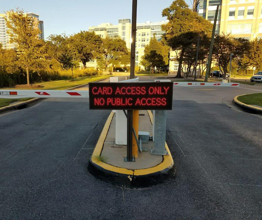 Outdoor LED No Public Access Signs
