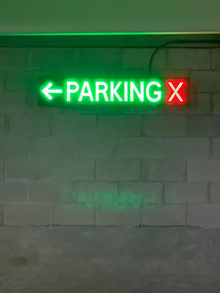 LED Directional Parking Garage Sign