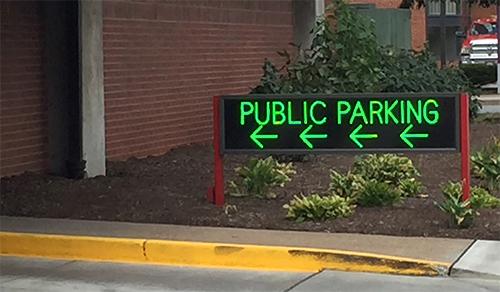 Public Parking LED Signs