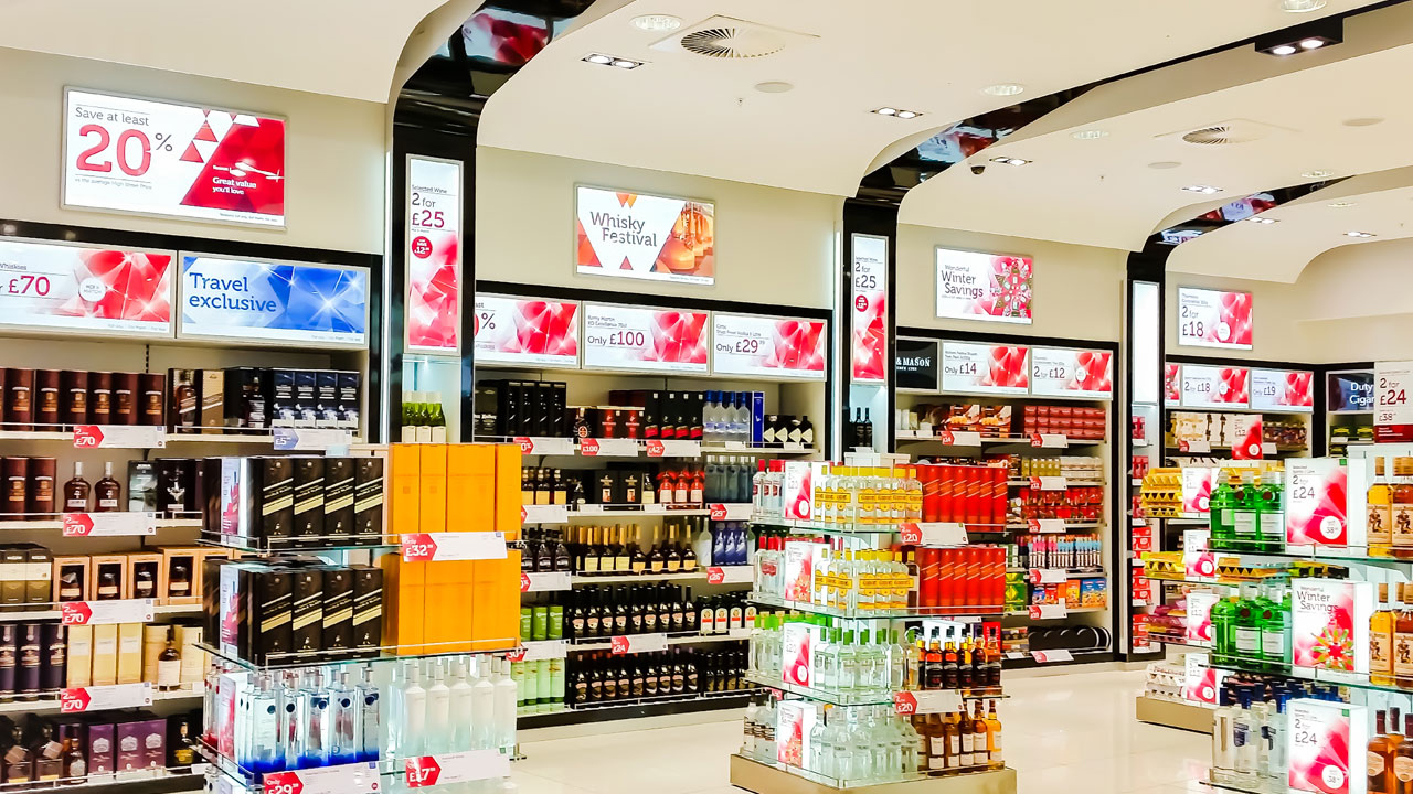 LED  Light Box Signs in Convenience Store