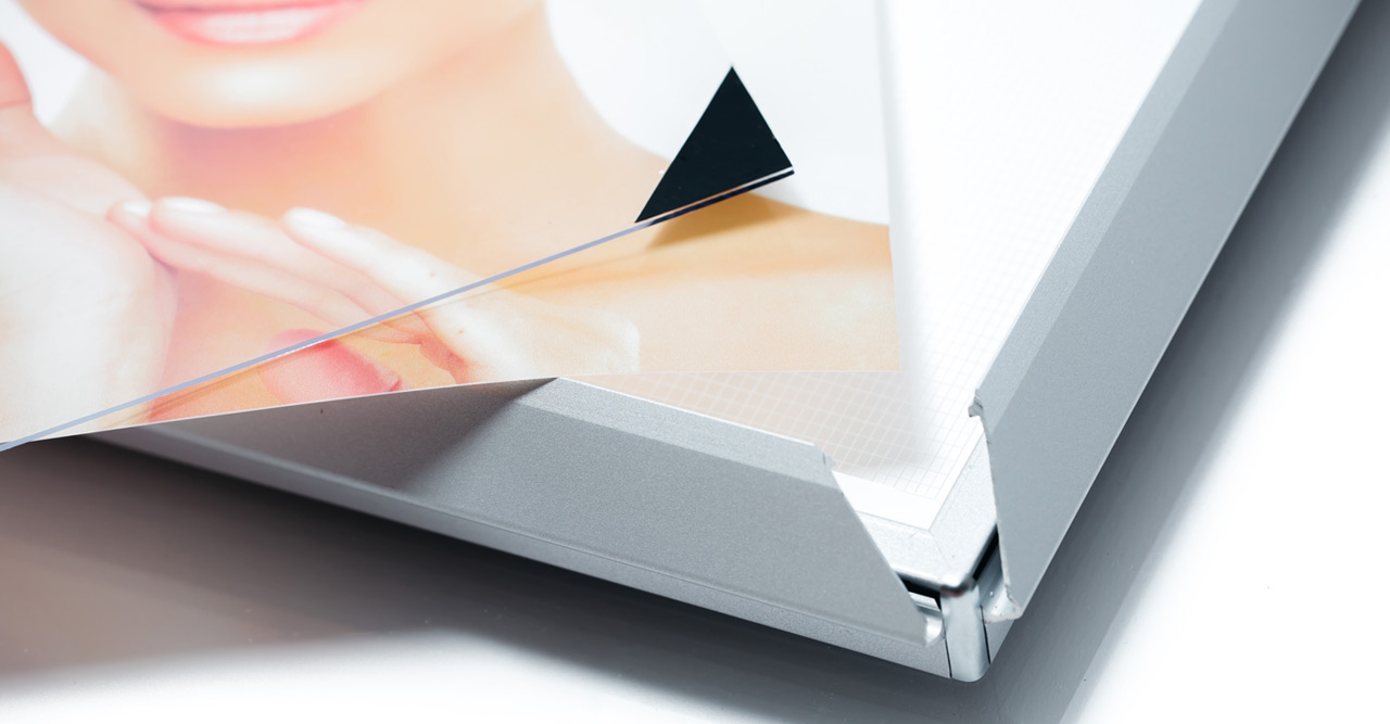 Snap frame led thin lightboxes