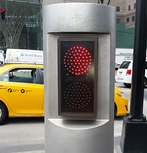 LED traffic lights stop and go signs